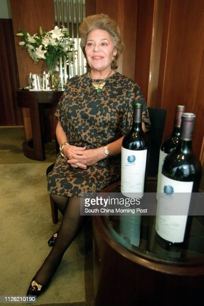 Interview with winemaker Baroness Philippine de Rothschild , owner of the premier grand cru Chateau Mouton-Rothschild from Bordeaux in France at...