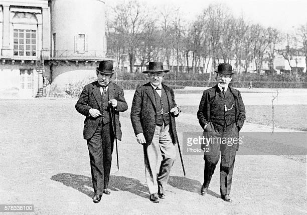 Interwar period. Alexandre Millerand surrounded by Aristide Briand and Barthou at Chequers Court during the Conference of London.