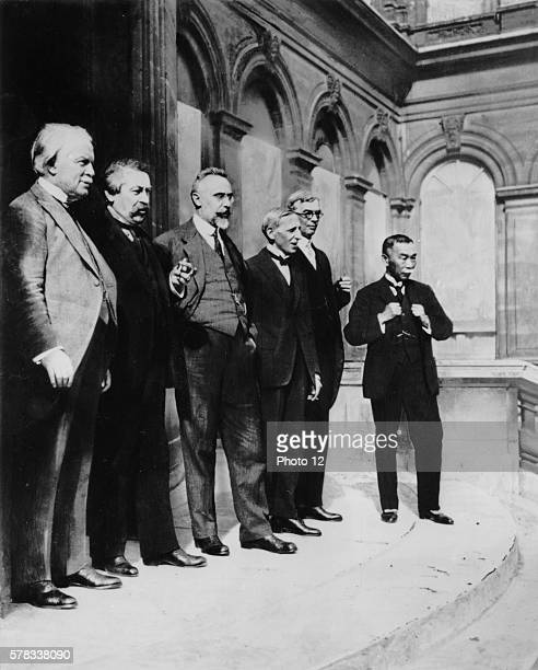 Lloyd George Aristide Briand and Ivanoe Bonomi