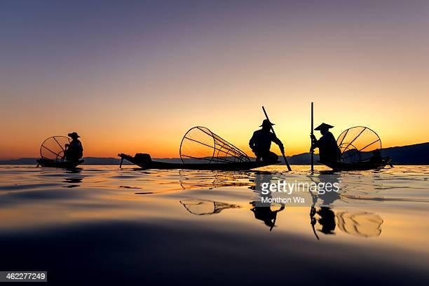 Intha Fishing at Inle Lake, Myanmar
