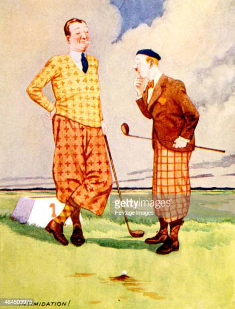 Intimidation Golfing cartoon British c1920s