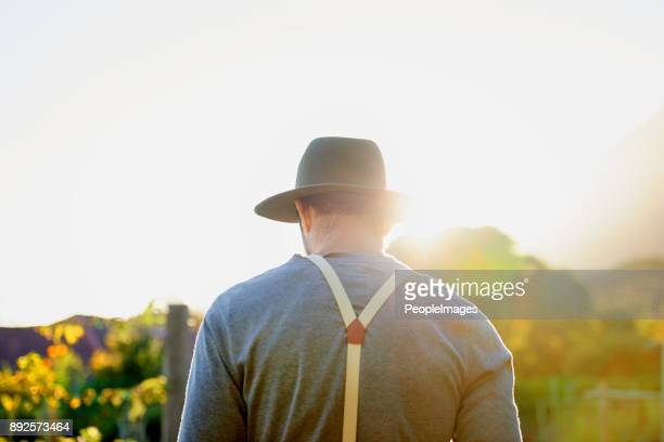 into the garden he goes - suspenders stock pictures, royalty-free photos & images