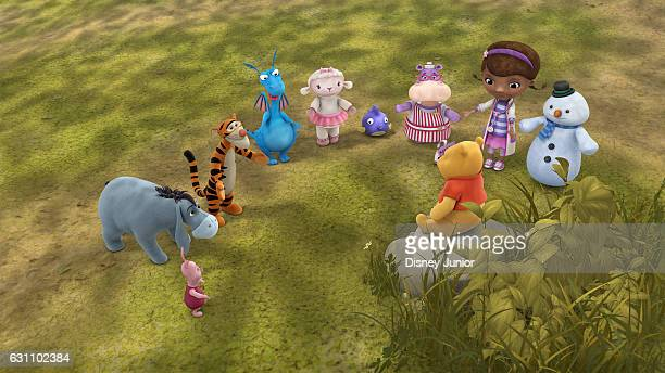 DOC MCSTUFFINS 'Into the Hundred Acre Wood' Doc McStuffins and her team have helped toys of all shapes and sizes and on a particularly blustery day...