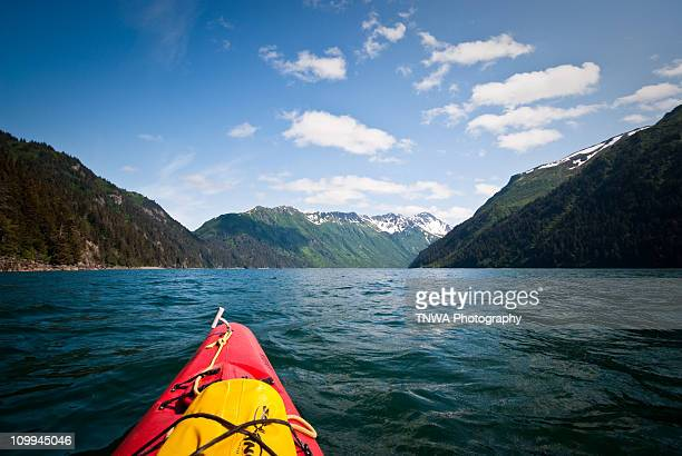 into the wilderness - kachemak bay stock pictures, royalty-free photos & images