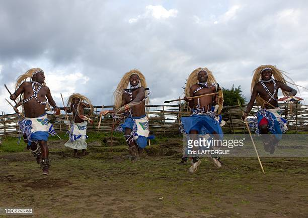 Intore dancer in Ibwiwachu village in Rwanda on March 22 2010 The Intore dancers have been active poachers for centuries they have an amazing...