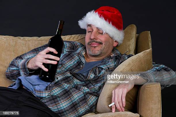 intoxicated man, too much holiday partying - hangover after party stock pictures, royalty-free photos & images