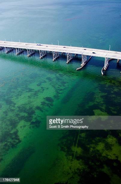 Intracoastal waterway channel Miami Biscayne Bay