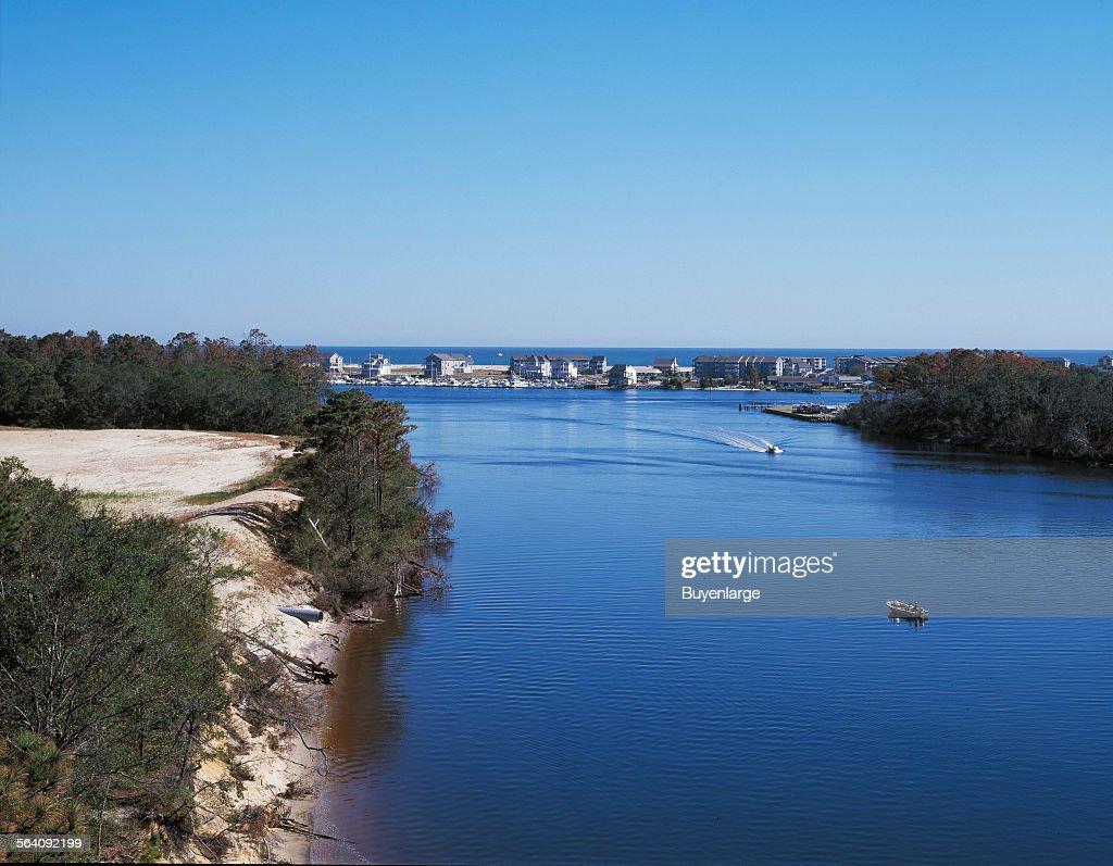 Intracoastal waterway near Wilmington, North Carolina News Photo