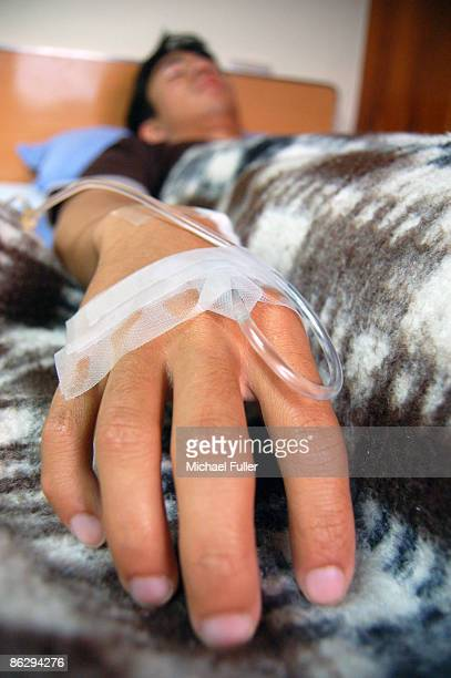 Intravenous Hand in Hospital