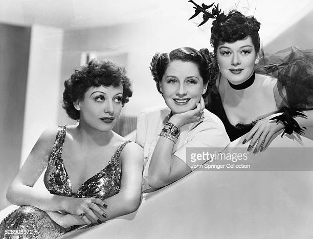 Introducing The Women Norma Shearer Joan Crawford and Rosalind Russell who are starred in MetroGoldwynMayer's new production The Women brought to the...