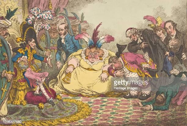 Introduction of Citizen Volpone & His Suite, at Paris.-Vide, The Moniteur, & Cobbetts Letters, November 15, 1802. Artist James Gillray.