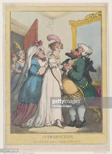 Introduction or Moses with a Good Bargain July 23 1806 Artist Thomas Rowlandson