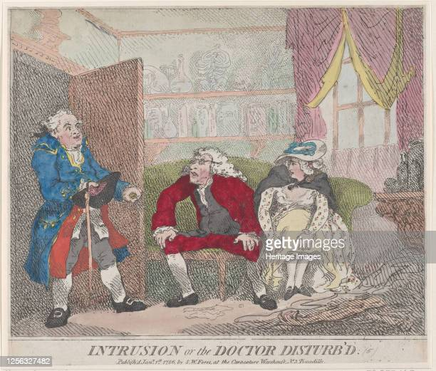 Intrusion, or The Doctor Disturb'd, January 1, 1786. Artist Thomas Rowlandson.