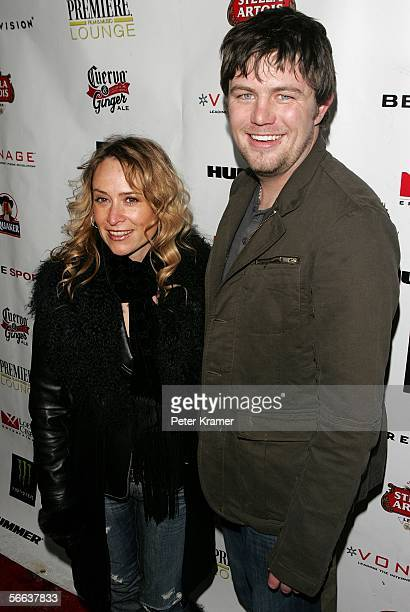 Intuit Media Group cofounders Priscilla Pesci and Dave Ostrander arrive at the ICM talent agency party at the Claimjumper during the 2006 Sundance...