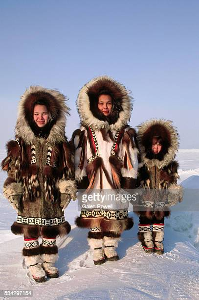 Inuit Children in Winter Furs