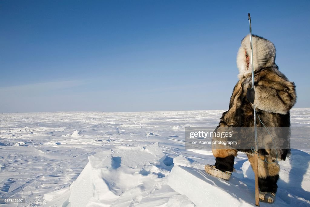 Inuit hunter on the northpole : ストックフォト