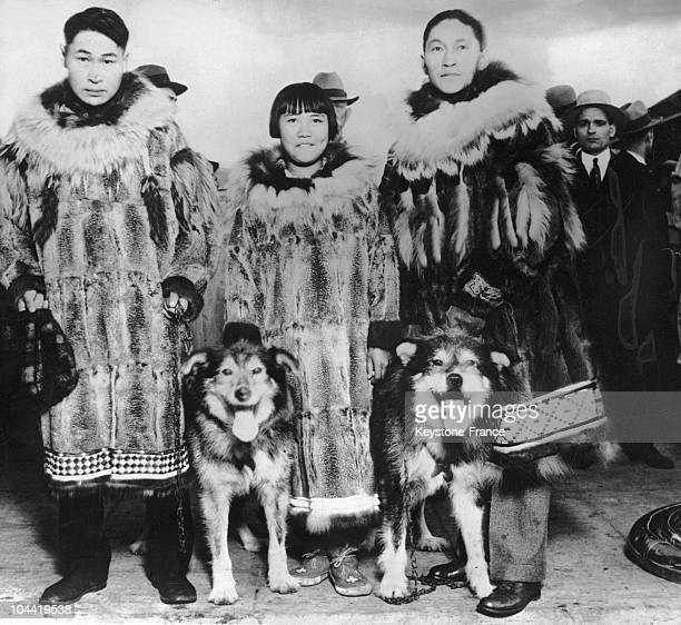Inuit Women With Their Dog In Seattle In 1929