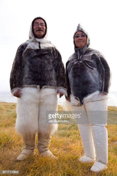 Inuits in Traditional Outerwear