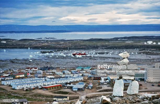 Inukshuk above Iqaluit