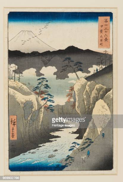 Inume Pass in Kai Province designed 1858 published 18581859 Dimensions height x width mount 556 x 406 cmheight x width sheet 325 x 237 cm Artist...