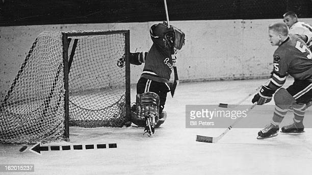 DEC 22 1963 Invader Bomb Misses Open Target Denver Invader John Sleaver catches Portland goalie Dave Kelly with an open net but his quick shot just...
