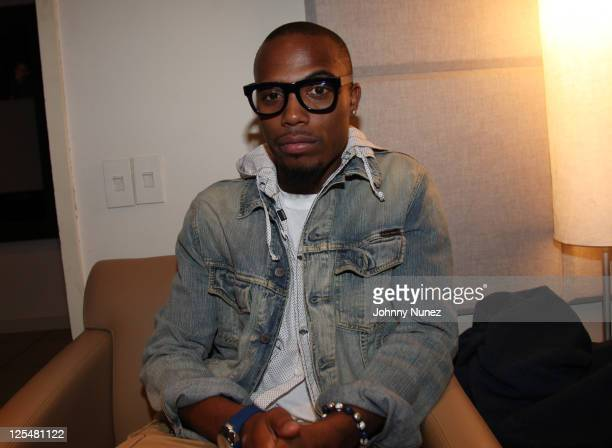B invades DJ Whoo Kid's Hollywood Shuffle at the SiriusXM Studio on September 17 2011 in New York City