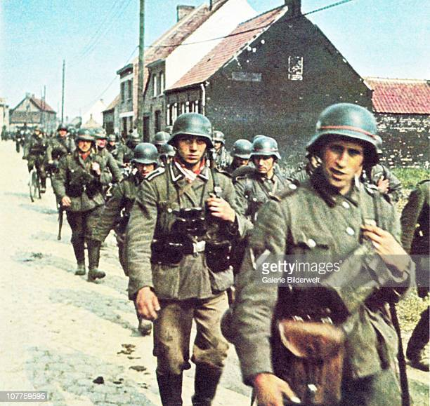 Invasion Of Belgium German Wehrmacht troops are passing through Belgium on the way to France May 1940 The Luftwaffe had already established air...