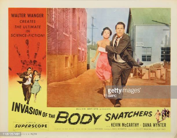 Invasion Of The Body Snatchers lobbycard from left Dana Wynter Kevin McCarthy 1956
