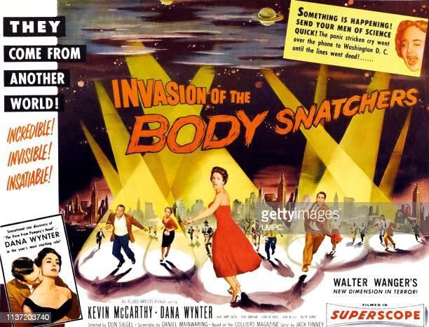 Invasion Of The Body Snatchers poster Dana Wynter Kevin McCarthy upper right Carolyn Jones on halfsheet poster art 1956