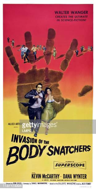 Invasion Of The Body Snatchers poster US poster from left Kevin McCarthy Dana Wynter 1956