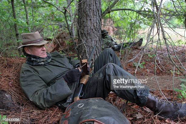 0500806 Photographer Susan Biddle /TWP Neg#179340 Cambridge MD Gerry Cassidy turkey hunting with his friend Jody Powell and Don Webster Turkeys...