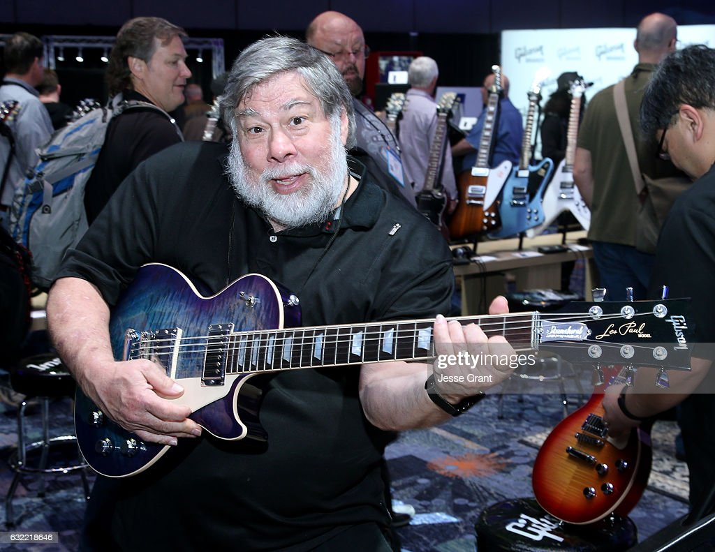 Inventer/Engineer Steve Wozniak attends the 2017 NAMM Show at the Anaheim Convention Center on January 20, 2017 in Anaheim, California.
