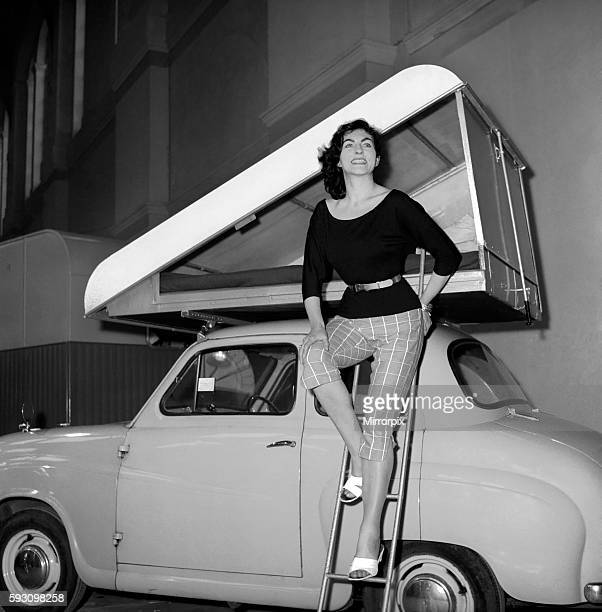 Car Roof Tent A new revolutionary camping invention 'The Roof Tent' seen here on top of a Austin A40 1960 A760