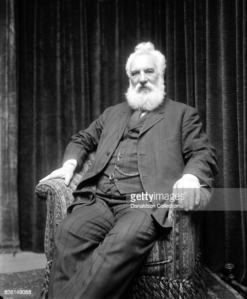 Inventor Alexander Graham Bell poses for a portrait in circa 1905