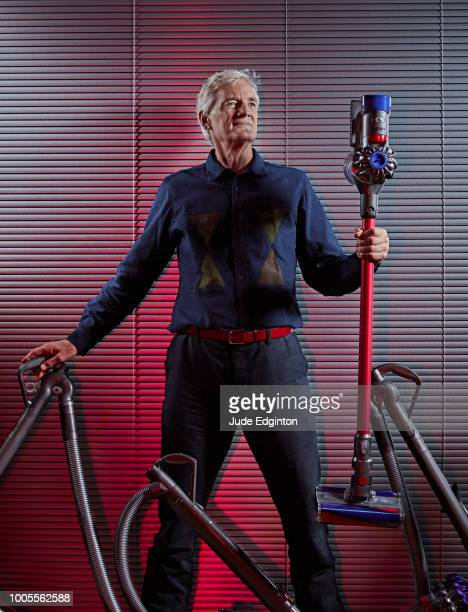 Inventor industrial design engineer and founder of the Dyson company James Dyson is photographed for the Wall Street Journal on November 27 2018 in...