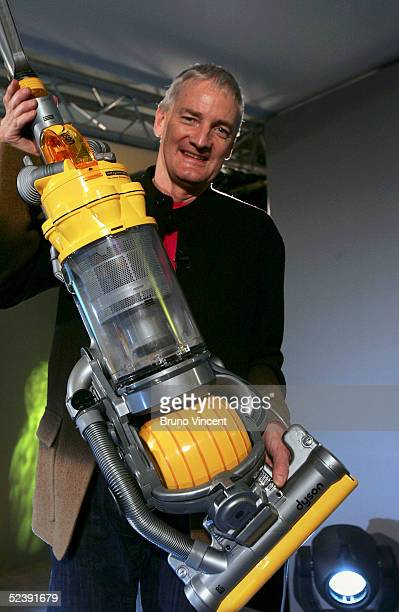 Inventor James Dyson is seen at the launch of his latest hoovering invention on March 14 2005 in London The vaccum cleaner replaces the traditional...