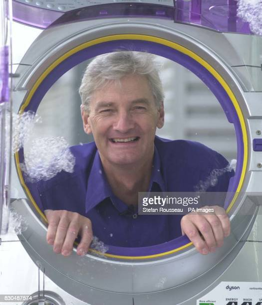 Inventor James Dyson with his new Dyson Contrarotator washing machine which he launched at his Wiltshire headquarters 04/01/01 Consumer magazine...