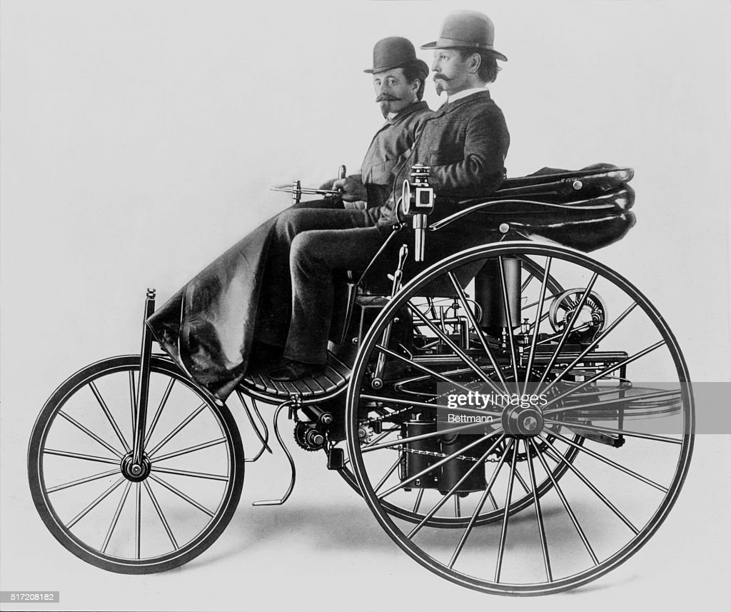 Inventor Karl Benz and Assistant in Early Motorwagen Pictures ...