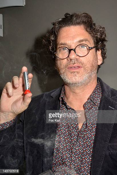HH inventor/ Le Laboratoire fundator David Edwards poses with a WAA/HH Spray during the 'WAA/HH' Food Flavouring Spray By Philippe Starck and Patrick...