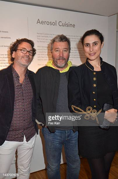 HH inventor/ Le Laboratoire fundator David Edwards WAA/H Spray designer Philippe Starck and his wife Jasmine attend the 'WAA/HH' Food Flavouring...