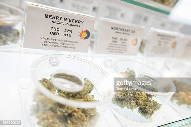 Inventory including Merry N'Berry is on display at the medical marijuana dispensary Takoma Wellness Center in Takoma Park August 30 2016