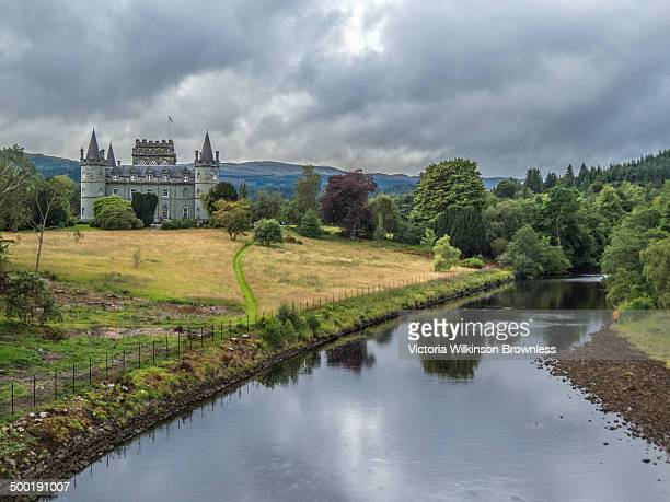 CONTENT] Inverarary Castle and Grounds with the river Aray in the foreground Taken Inveraray Argyll and Bute Scotland August 2013