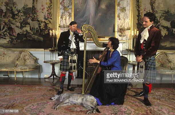 Inveraray Castle Chief of Campbell clan in United Kingdom in June 1994 The Argyll family in the main livingroom