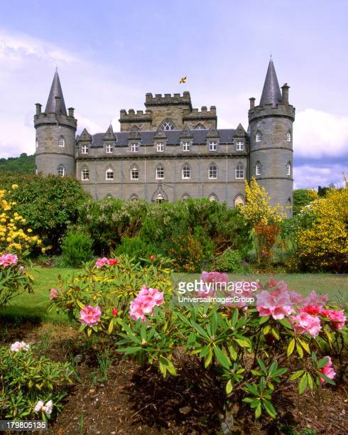 Inveraray Castle from the private gardens Inveraray Argyll Scotland United Kingdom