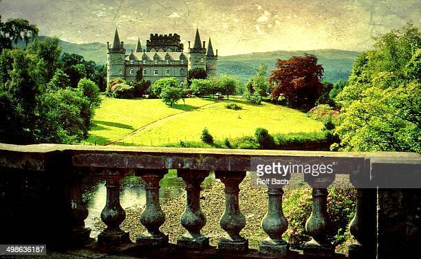 CONTENT] Inveraray Castle is a castle in the town of Inveraray on Loch Fyne in Scotland It is the headquarters of the Dukes of Argyll a branch of the...
