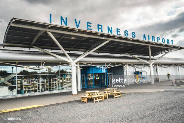 inverness airport, scotland - inverness stock photos and pictures