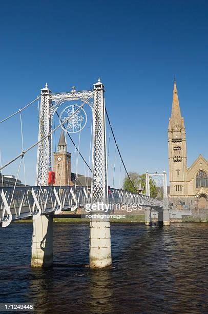 inverness and the river ness - inverness stock photos and pictures
