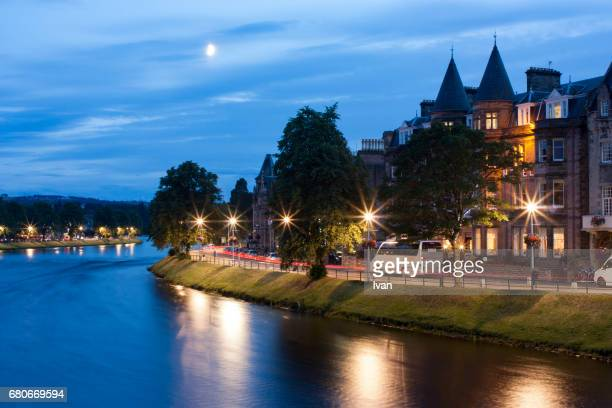 Inverness at night with River Ness