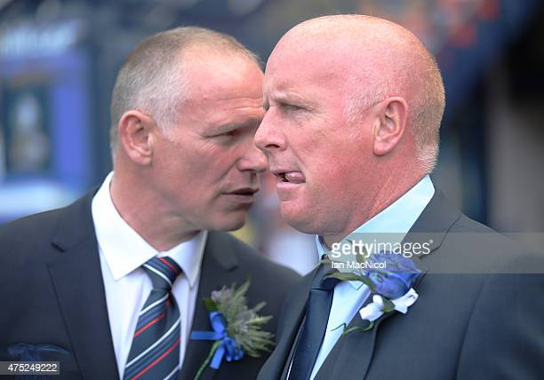Inverness Caledonian Thistle's manager John Hughes and Falkirk's manager Peter Houston during the William Hill Scottish Cup Final match between...