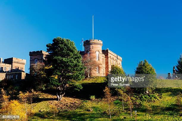 Inverness Castle, Highland Region, Scotland in autumn